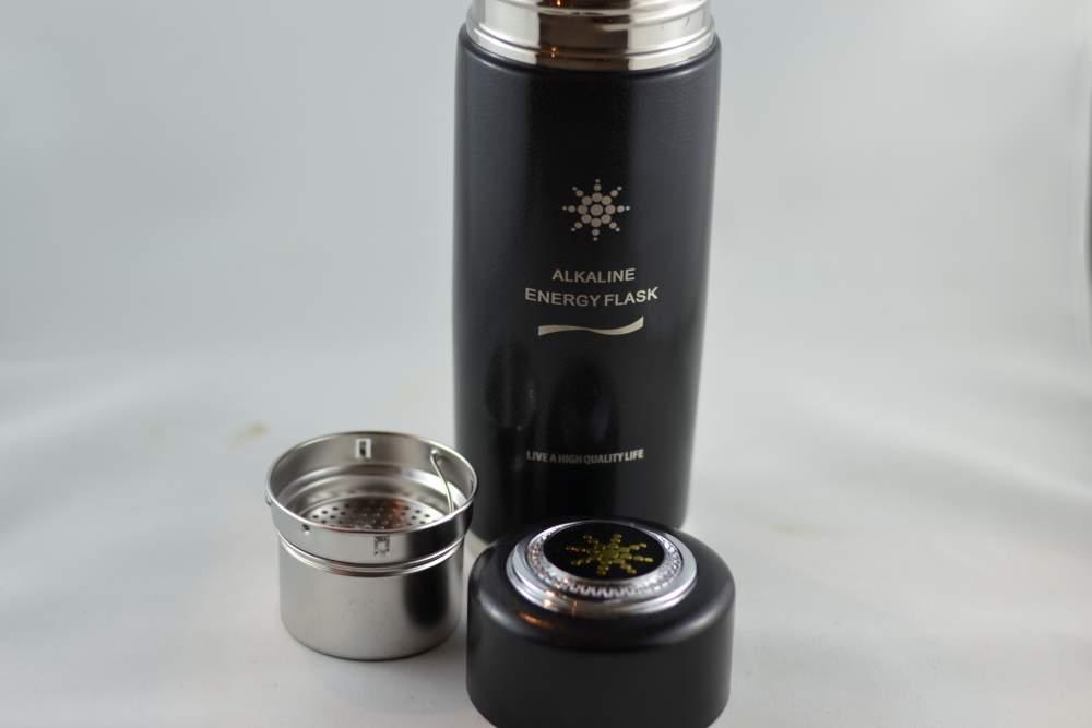 Black Alkaline Water Bottle Quantum Pendant Scientific Proof - Alkaline water bottle