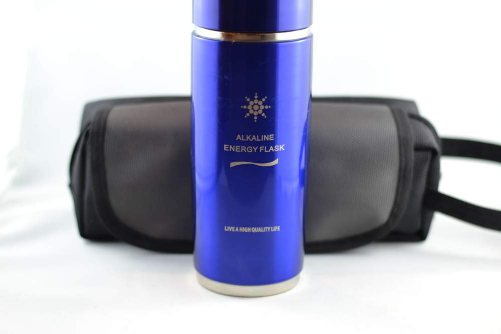 Blue Alkaline Water Bottle Quantum Pendant Scientific