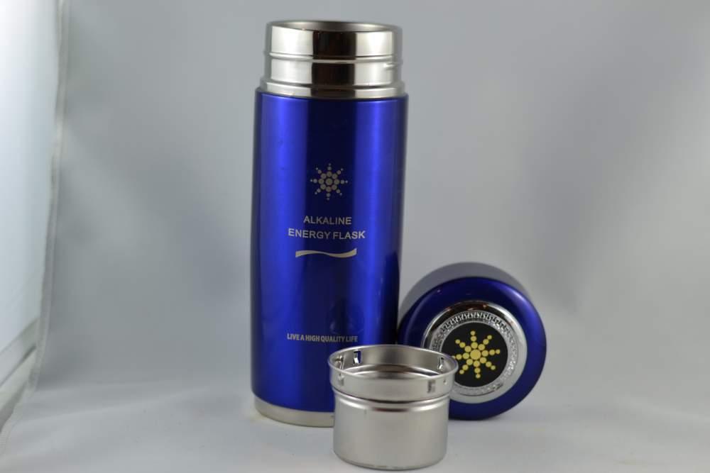 Blue Alkaline Water Bottle Quantum Pendant Scientific Proof - Alkaline water bottle