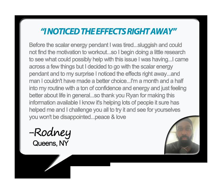 Quantum Pendant Testimonial - Rodney